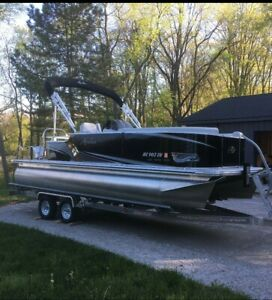 Avalon Pontoon Boat w/ Trailer and extras