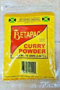 Jamaican Curry Powder Seasoning BetaPac 3.88oz 110 Grams Bag