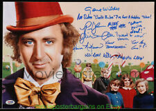 GENE WILDER Autographed 12x17 Photo & WILLY WONKA And The Chocolate Factory CAST