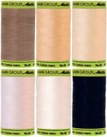 Mettler Cotton Thread Silk Finish 60 Weight 2 Ply 170d 800 Meters/875 Yards