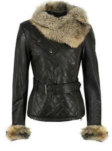 Fur Leather Raccoon Soft E Lamb Collar Ladies Outerwear Quilted Jacket Funk wq7XP7x08