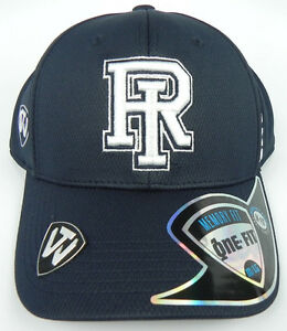RHODE-ISLAND-RAMS-NCAA-ALL-NAVY-STRETCH-FLEX-FIT-1-FIT-TOW-CAP-HAT-NWT