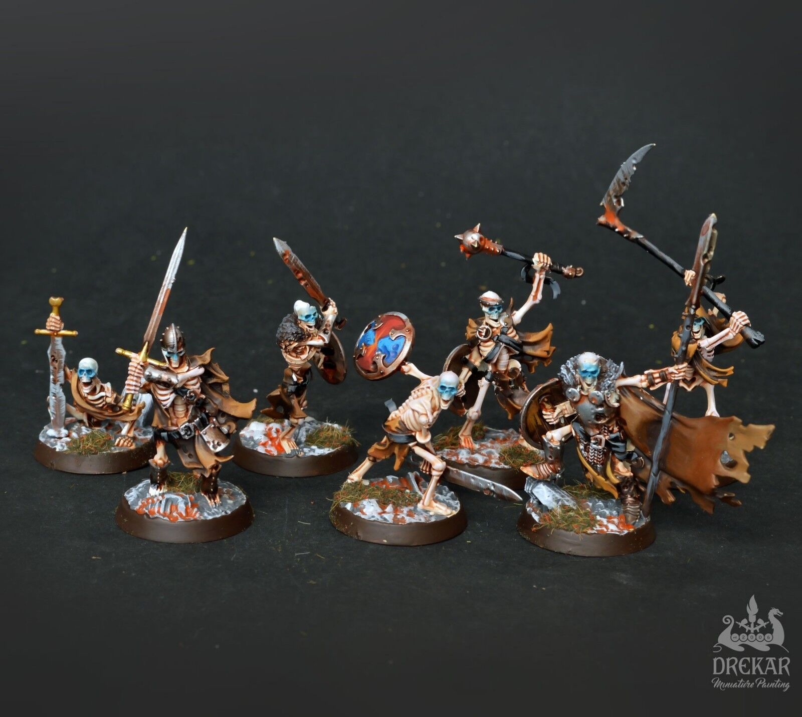 Sepulchral Guard Shadespire  COMMISSION  painting including cards
