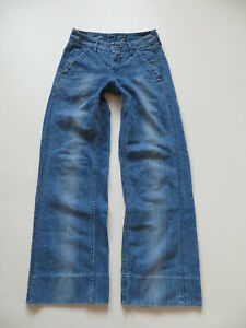 Levi-039-s-Marlene-Jeans-Hose-W-28-L-32-RAR-034-Blue-STAR-034-Vintage-Schlaghose