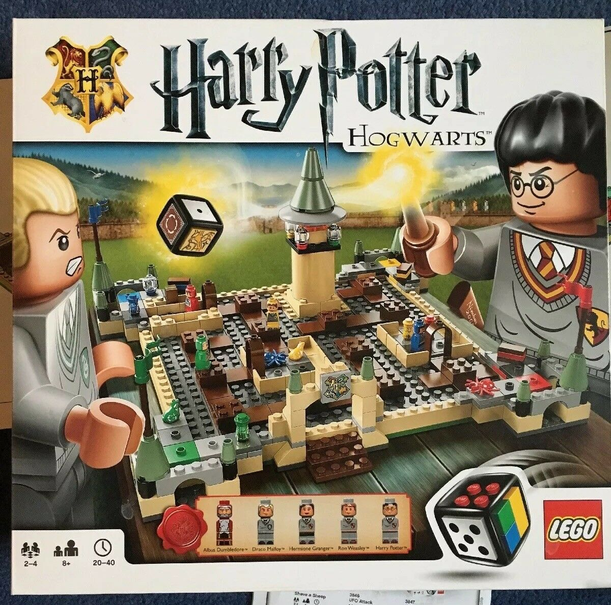 LEGO 3862 Harry Potter HOGWARTS BOARD GAME 100% Complete with Instructions