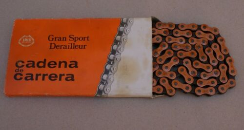 80s NOS Vintage Iris Gran Sport Derailleur Road Bike Chain 1//2 x 3//32 112 Links