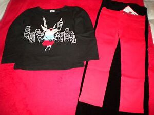 e29081013265 NWT Olivia the Pig Gymboree Girls Size 3T Red Pants   Black LS Shirt ...