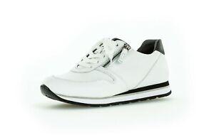 the sale of shoes amazon crazy price Details zu Gabor Sneaker Low Schnürschuhe weiß schwarz Leder Reißverschluss  Einlagen