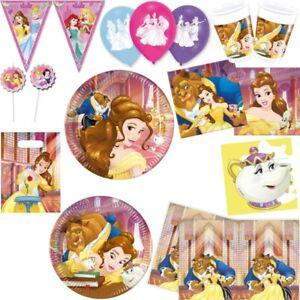 Die Schone Und Das Biest Kindergeburtstag Party Deko Belle Disney