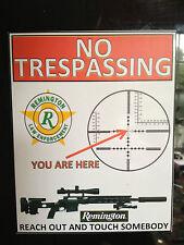 GUN STICKER / DECAL.' `NO TRESPASSING, REMINGTON SNIPER RIFLES MAGNETIC SIGN