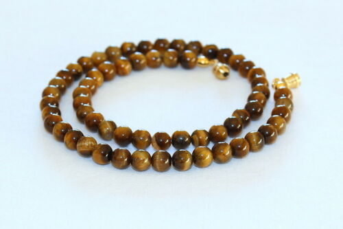 Details about  /Tiger Eye Necklace 6mm Tiger/'s eye Beads 6 mm Brown Tigers Eye beads necklace