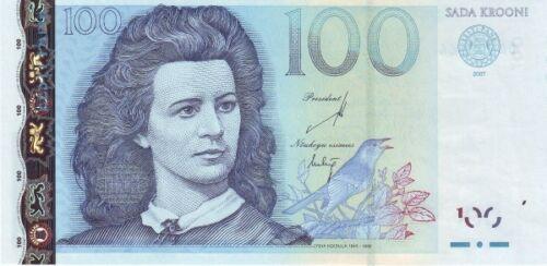 100 krooni 2007 uncirculated banknote ESTONIA