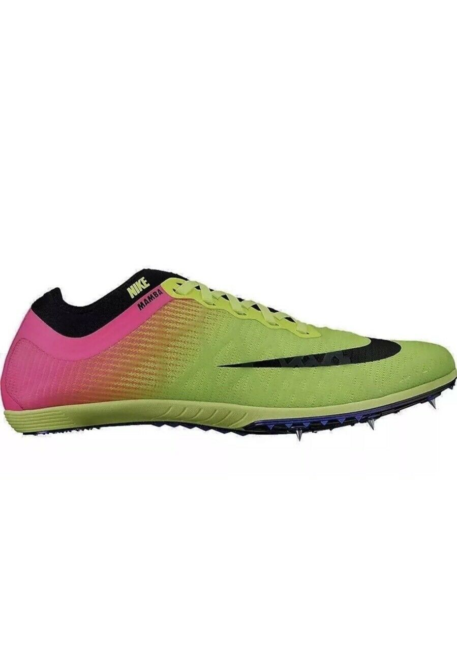 Cheap and beautiful fashion New Nike MAMBA Volt Black Pink Track Spikes 706617-999 Mens Sz 11 US