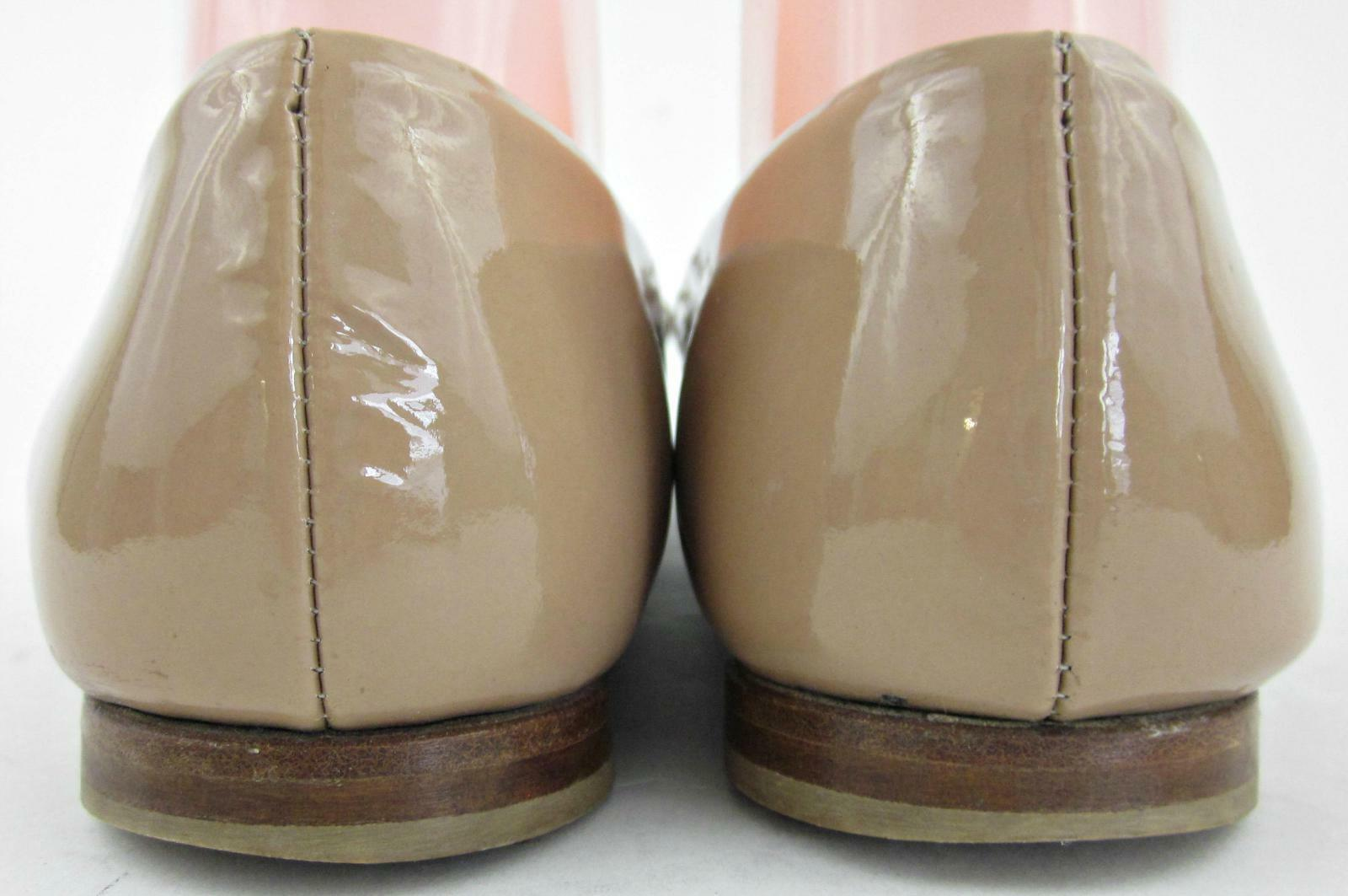 Attilio Giusti Leombruni AGL Leder Ballet Bow Flats Nude Patent Leder AGL EU 37.5 US 7.5 11995a
