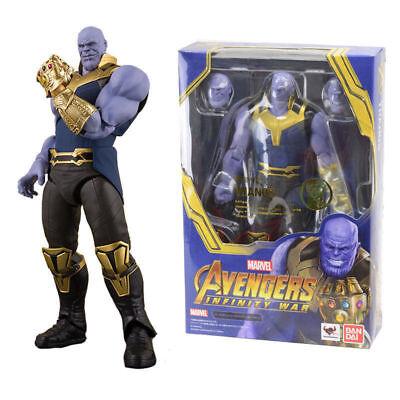 Avengers Infinity War Thanos Figura de Acción SHF 16 cm. tamaño