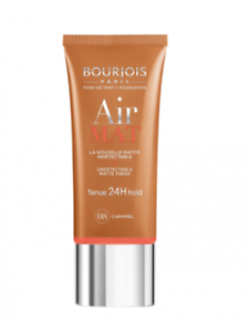Boujois Fond de teint protecteur Air Mat Tenue 24 H hold caramel N° 08
