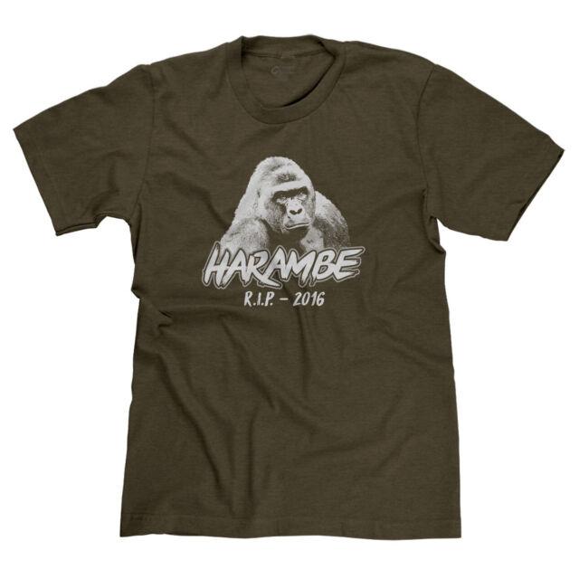 RIP Harambe Gorilla Support T-Shirt Justice