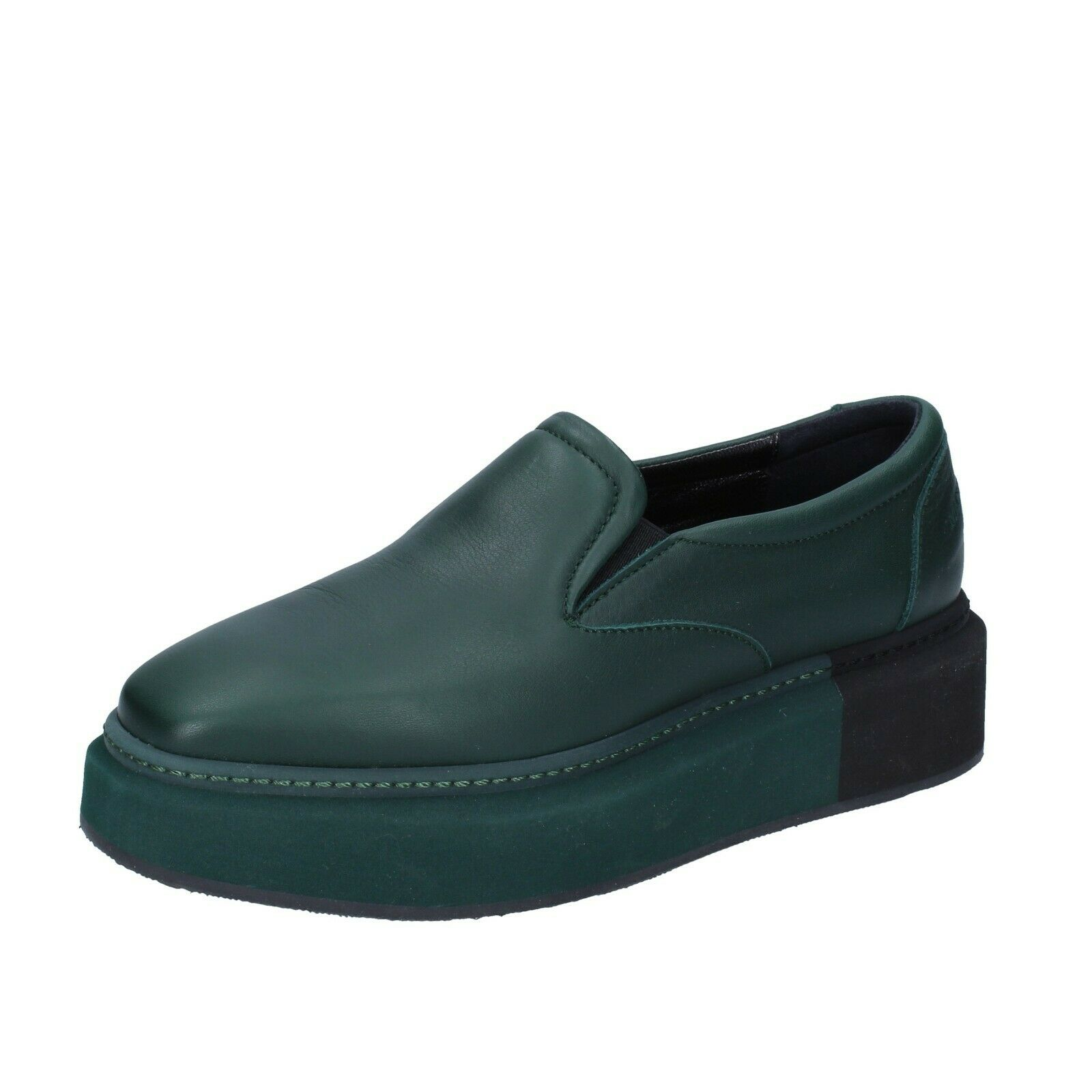 Chaussures Femmes Manuel Barcelo 6 (UE 36) Baskets en Cuir Vert BS333-36