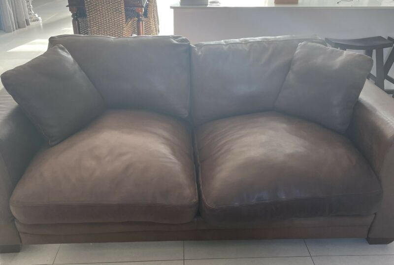 Coricraft 3 seater leather couch