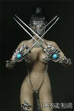 Custom 1/6 Acient  Metal Girl Wolverine Battle Suit For Phicen Female Body New