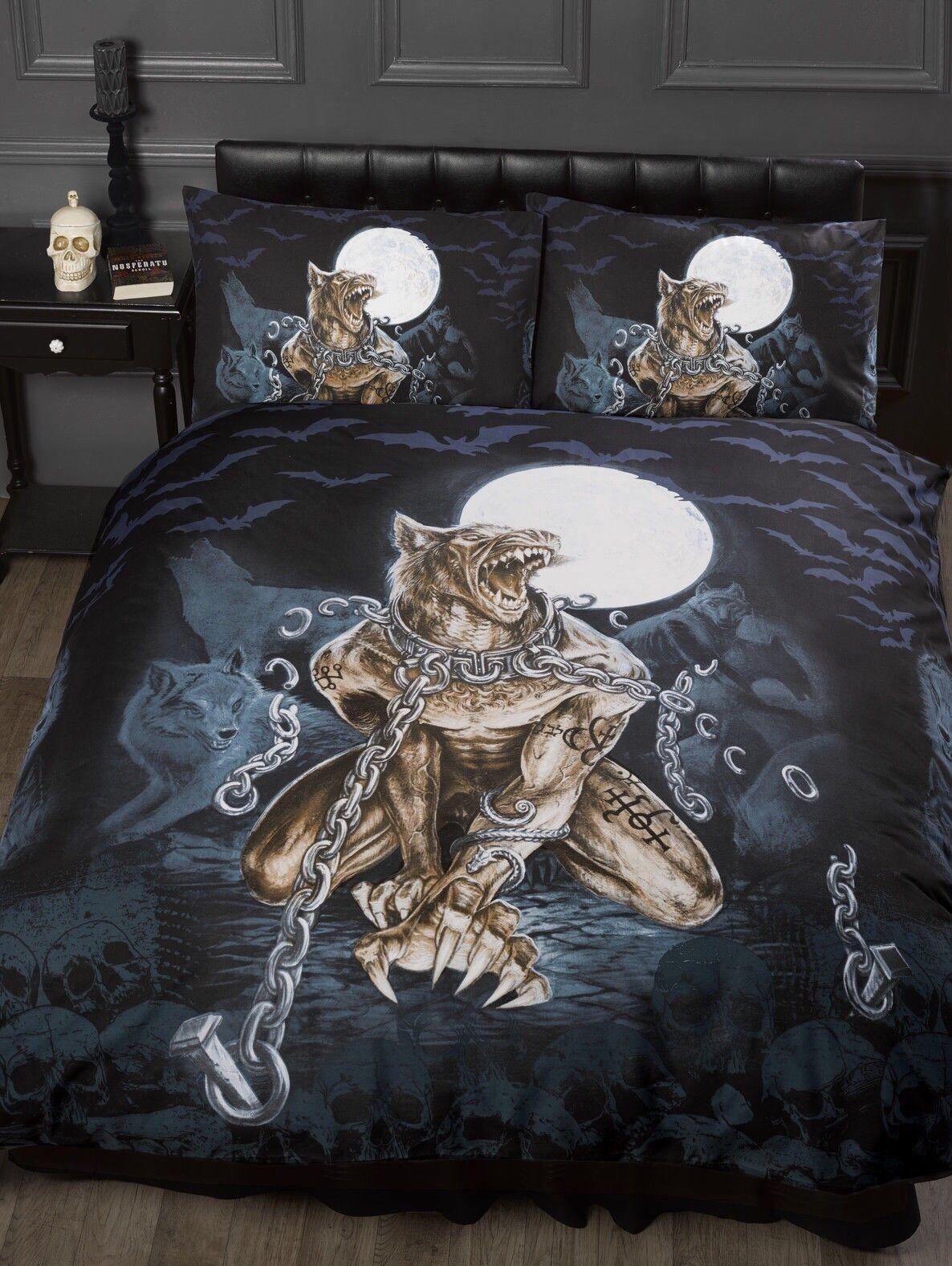 ALCHEMY LOUPS GAROU WEREWOLF TEENAGE GOTHIC BEDROOM BEDDING DUVET QUILT COVER