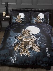 ALCHEMY LOUPS GAROU WEREWOLF TEENAGE GOTHIC BEDROOM BEDDING DUVET ...