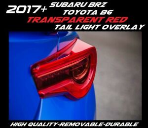 Transparent Red Tail Light Overlay For 2017 2020 Toyota