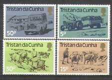 Tristan da Cunha 1983 Landrover/Cattle/Tractor/Car/Donkeys/Transport 4v (n25002)
