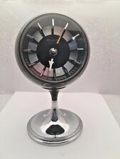 Bulova Black Pedestal Clock #634 Mid Century Modern