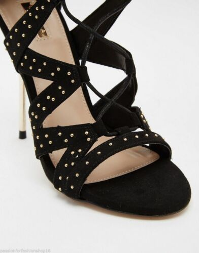 Gillow Studded Carvela Black Sandals Gladiator Heeled gqdHP