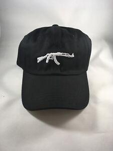 AK 47 Uzi Gun 6 Panel Embroidery Unconstructed Adjustable Dad Hat ... 2f1f56d3de5