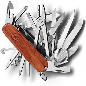 Knife Multipurpose Victorinox 91mm Swiss Champ Hardwood