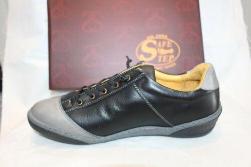 LADIES SHOES/FOOTWEAR - Safe Step Lace Up shoe Kilkee black/grey
