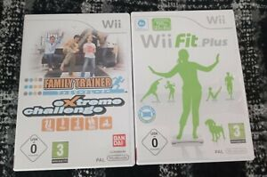 NINTENDO-Wii-Fit-Plus-Wii-Family-TRAINER-EXTREME-CHALLENGE-juegos-solamente