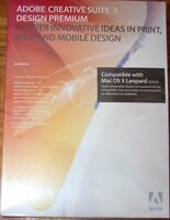 Sealed Adobe Creative Suite 3 Design Premium Mac Cs3 Mpn: 19500007