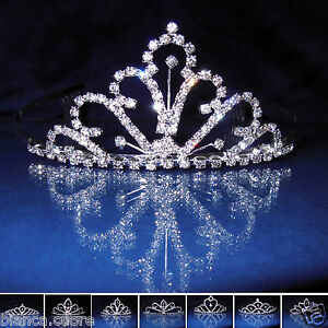 Caricamento dell immagine in corso Tiara-Sposa-Diadema-Coroncina -acconciatura-cerimonia-corona-strass- a09b5ac1df2a