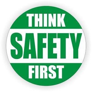 think safety first hard hat decal helmet sticker 1st safe worker