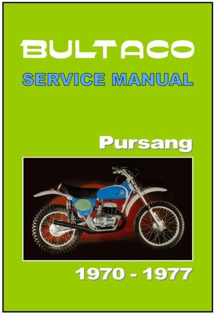 BULTACO Workshop Manual Pursang Astro 350 1971 /& 1972 FACTORY Service /& Repair