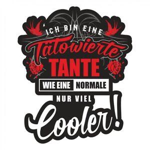 Wetterfester Aufkleber Tatowierte Coole Tante Tattoo Auto Motorrad