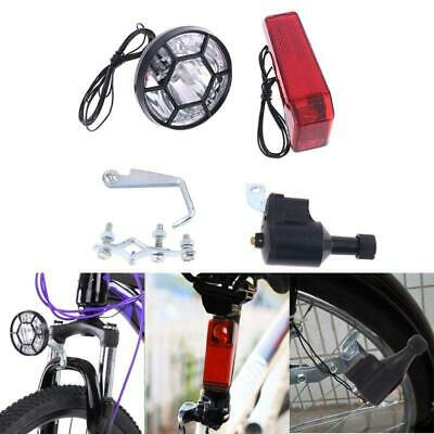 Motorized Bike Bicycle Friction Dynamo Generator Head Tail Light Acessories New