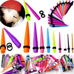 18Pcs-Acrylic-Ear-Plug-Taper-Kit-Gauges-Expander-Stretcher-Stretching-Piercing