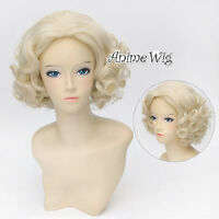 Amazing Anime Marilyn Monroe Blonde Curly 12 Cosplay Hair Wig + Wig Cap