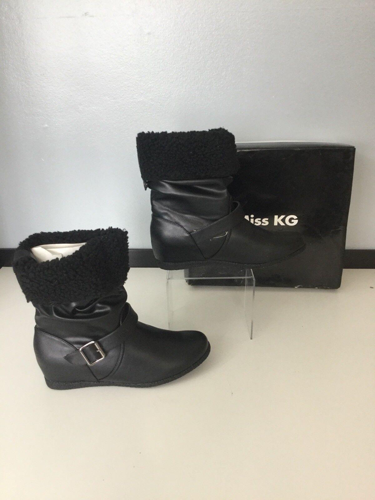 Miss Kurt Geiger Schuhes NEW Stiefel Faux Leder BRAND NEW Schuhes with Box Größe Uk 8 Eu 41 c5b6fb