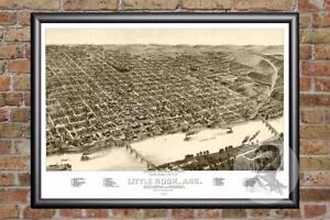 Vintage-Little-Rock-AR-Map-1887-Historic-Arkansas-Art-Victorian-Industrial