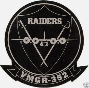 VMGR-352-RAIDERS-C-130-STICKER-DECAL-ZAP-MADE-IN-US-MARINES-PIN-UP-HERK-GIFT-WOW