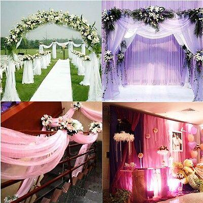 1000CM*75CM Sheer Organza Roll Wedding Chair Sash Bow Table Runner Swag Decor