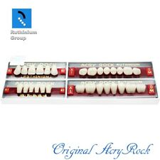 4pcs Set Acrylic Dental Lab Teeth Ruthinium Acryrock Teeth A1 Size 41 Full Mouth