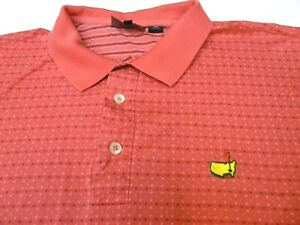Clubhouse-Collection-Mens-Large-Polo-Golf-Shirt-Masters-Logo-Made-in-Italy-Pink