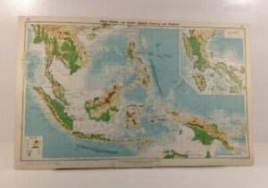 Vintage-Map-INDO-CHINA-and-EAST-INDIES-Physical-and-Political-c-1924