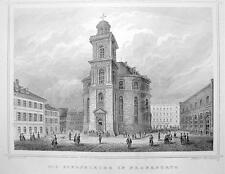 GERMANY St. Paul's Church in Frankfurt am Main - 1860 Original Engraving Print